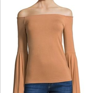 Free People blouse off the shoulder bell sleeves